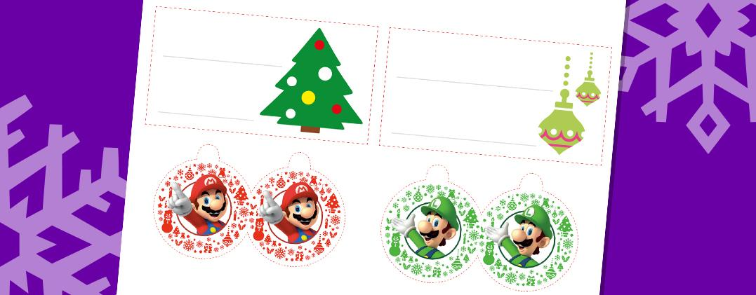 detail christmas tags